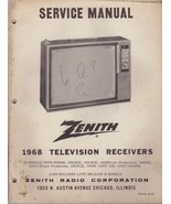 Zenith Service Manual TV-37 1968 TV Television Receivers Y & X Models 92... - $9.25