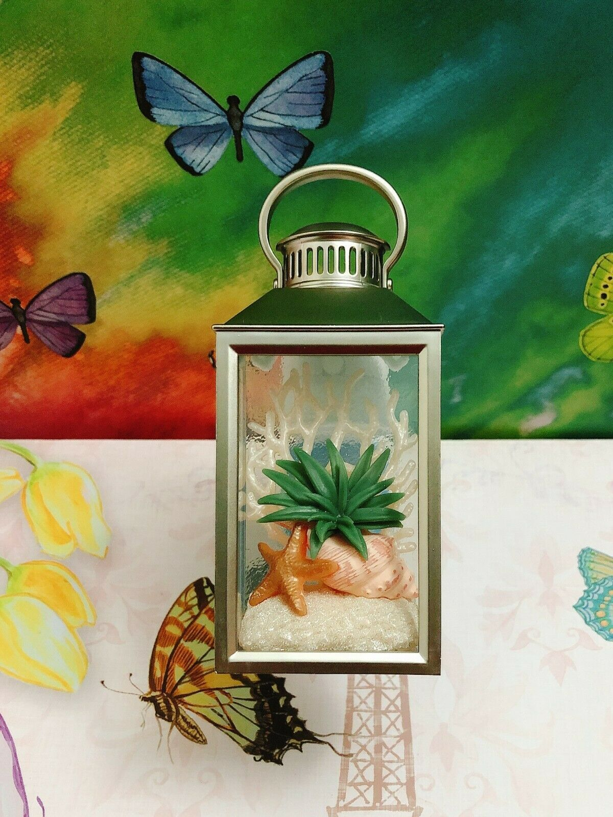 Primary image for Bath Body Works Beach Plant Aloe Star Lantern Wallflower Unit Nightlight Plug