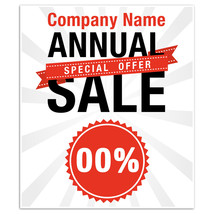 Business Window Retail Custom Annual Sale Sign - $15.35+