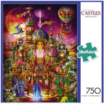 Buffalo Games Majestic Castles Krystol's Palace 750 Piece Jigsaw Puzzle Princess - $29.69