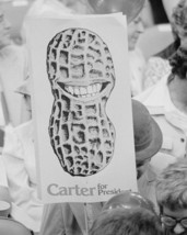 Jimmy Carter supporter holds peanut sign at 1976 Democrat Convention Pho... - $6.16+