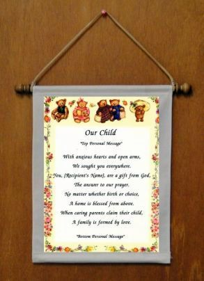 Our Child - Personalized Wall Hanging (213-2)