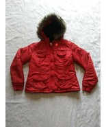 Womens Nori Red Winter Coat With Hood Size L - $46.74