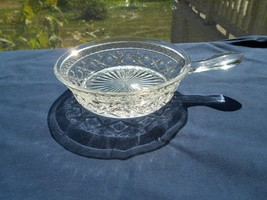 """Imperial Glass Cape Cod Crystal Clear Spider Dish  Handle 5 3/4""""  Candy Nut - $11.99"""