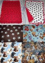 Fleece Baby Pet Blanket Lap Retriver Bulldog Paw Scottie German Sherpard... - $39.95