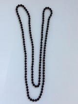"""Costume Jewelry Black And Red Necklace  - Length Approximately 29"""" - $4.00"""
