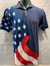 CHAPS Ralph Lauren American Flag Polo Shirt Size S Stars Stripes - $24.74