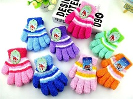 Thermal Autumn Gloves Stripe Five Finger Gloves Knitted Warm Toddler Cut... - $178,79 MXN
