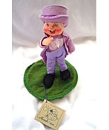 """Vintage Annalee 8"""" Mobilitee Doll 1989 Boy in Lavender Suit with Top Hat - $24.99"""