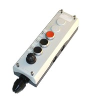 Eaton IEC60947-5-1 Push Button Enclosure W/ 3 Push Buttons & 1 Selector Switch - $149.99