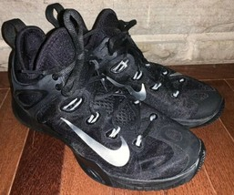 Nike Zoom Shoes 705370-001 Black / Silver Running Cross Train Mens Size 7.5 - $49.50