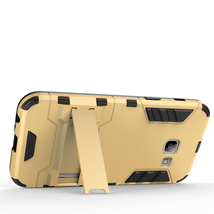 Armor Kickstand Protective Phone Cover Case for Samsung Galaxy A3 (2017) - Gold  image 4