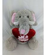 """Homerbest Gray Elephant Plush 12"""" Red Wild Thing Heart Pillow Stuffed An... - $12.95"""