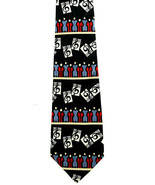 Choir Music Men's Neck Religious Song Hymn Church Director Black Neck Tie - $15.79