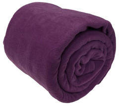 Luxury Purple Faux Fur Blanket Throw Sofa Bed Mink Soft Warm Fleece Sing... - ₹1,297.13 INR
