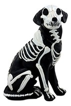 """Ebros Day of The Dead Bone Skeleton Dog Statue 7.5"""" H X-Ray Canine Skeleton Anat - $19.99"""