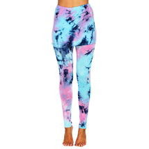 Tie Dye Skirted Leggings - Teal/Pink - $19.99