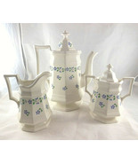 Iroquois China Henry Ford Museum Periwinkle Coffee Tea Pot creamer sugar... - $118.79