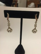 Silvertone drop earrings - $8.99