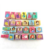 Lot of 25 Disney Princess Wooden Rubber Stamps Cinderella Beauty Beast A... - £21.46 GBP