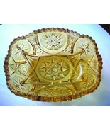 Amber Yutec Pattern Bread Dish by Kemple Glass - $9.90