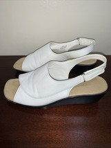 """Easy Spirit Womens White Leather Sandals Shoes """"Inlets"""" Size 8.5 Medium - $13.85"""