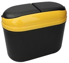Yellow Convenient And Fashionable Car Trash Household Garbage Bin