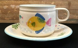 Studio Nova Barrier Reef Flat Cup & Saucer  - $9.99