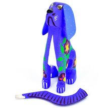 "Handmade Alebrije Oaxacan Copal Wood Carving Folk Art Hound Dog Puppy 5"" Figure image 6"
