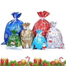 30pcs ASSORTED SIZE & DESIGN DRAWSTRING CHRISTMAS SANTA GIFT WRAPPER SAC... - $25.69