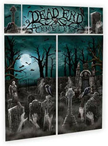 "Cemetery Scene Setters | Halloween Decorating Kit 59"" x 32 1/2"" 2 ct - $9.85"