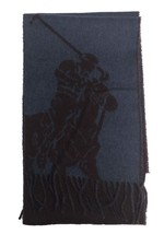 Polo Ralph Lauren Men's Wool Blend Offset Big Pony Reversible Rectangle Scarf pu - $46.71