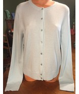 NWT J Crew 100% Cashmere Cardigan Sweater Mint Green Size XL - $145.04