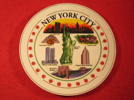 "8"" Porcelain Collector Plate NEW YORK CITY Empire State WORLD TRADE CENT... - $16.32"
