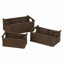 Mixed Woven Basket Bin Holder storage Organizer Kitchen Office Bathroom ... - $52.78