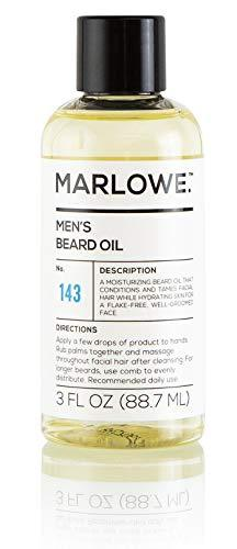 MARLOWE. Beard Oil Conditioner for Men No. 143 | Softer & Fuller Beard Care | La