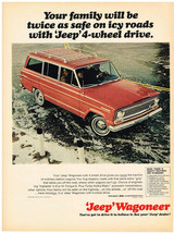 Vintage 1967 Magazine Ad Jeep Wagoneer With 4-Wheel Drive Gives Traction... - $5.93