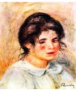 Portrait of Gabrielle by Renoir - 24x32 inch Canvas Wall Art Home Decor - $51.99