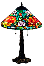 Amora Lighting AM1104TL16 Tiffany-style Roses D... - $203.95