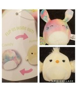 "Squishmallows 5"" AIMEE CANDY BUNNY CHICK EASTER Flip A Mallow Farm NWT - $16.82"