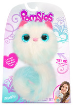 POMSIES - SNOWBALL White and Blue PLUSH WEARABLE PET CAT Light Up Eyes &... - $19.99
