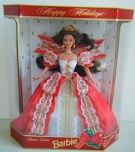 1997 Mattel 10th Anniversary SE Happy Holidays Brunette Barbie Doll NRFB - $12.82
