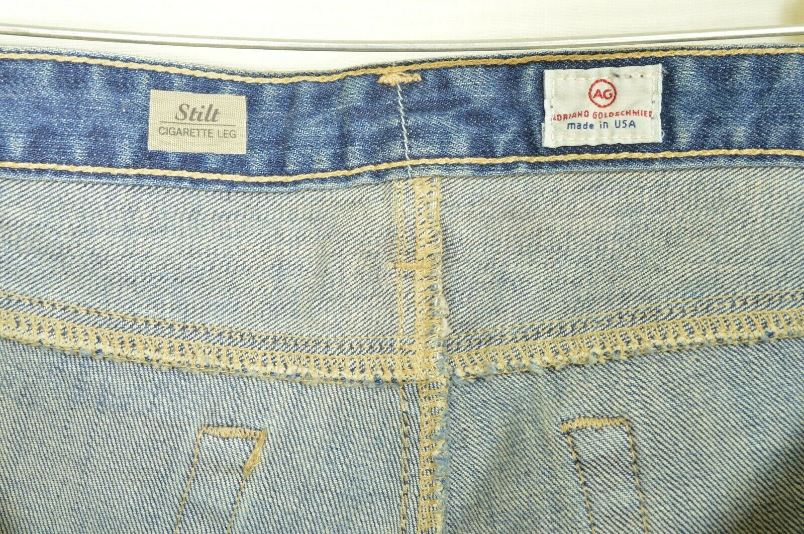 AG Adriano Goldschmied jeans 31 x 31 Stilt cigarette leg 17Y - SVT destroyed USA image 6