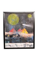 Exclusive Authenic Handmade Art Moon Night Canvas Wall Hanging Oil Paint... - $178.00