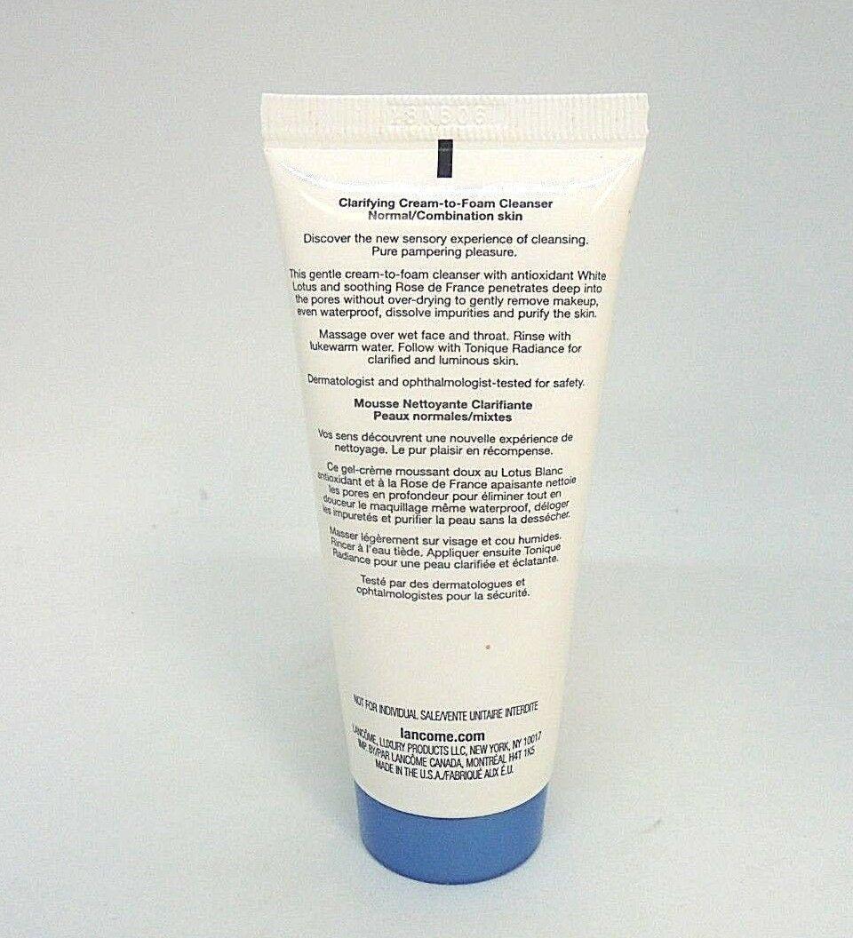 Lancome Creme Radiance Clarifying Cream-To-Foam Cleanser  2.0 oz