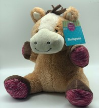 Animal Adventure Rumpees Brown Tan Horse Pony Plush Stuffed Animal NEW - $9.99