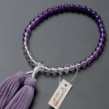 Buddhist Rosary Mala Juzu Prayer beads Japan Kyoto Amethyst Crystal - $158.60