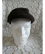Men's Black Gray Hawk Fitted Newsboy Hat Cap - $17.45