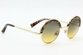 NEW ALAIN MIKLI A 04003 4108/11 GOLD CHEVRON BROWN AUTHENTIC SUNGLASSES ... - $163.63