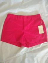 A new day Women's Zippered Stretch High-Rise Dark Pink Chino Shorts Sz 4 - $21.51